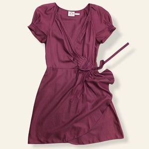 Juicy Couture Puff Sleeve Wrap Mini Dress Size 6
